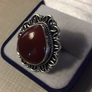 Jewelry - Beautiful vintage stylish red carnelian ring